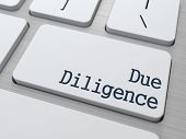 foto of diligent  - Due Diligence on White Keyboard Button on Computer Keyboard - JPG