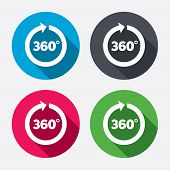 image of degree  - Angle 360 degrees sign icon - JPG