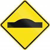 foto of bump  - Warning road sign in Chile - JPG