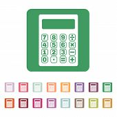 image of calculator  - The calculator icon - JPG