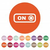 stock photo of toggle switch  - The on button icon - JPG
