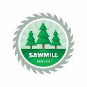 stock photo of sawing  - Sawmill service  - JPG