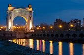 stock photo of lenin  - Arch to the pier first gateway of the Volga - JPG