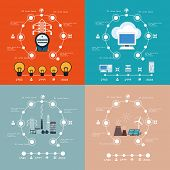 image of polution  - Energy    infographic cloud computing set - JPG