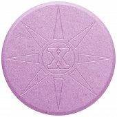 picture of shabu  - Pink Ecstasy pill isolated on white illustration - JPG