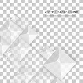 picture of pyramid shape  - Vector Abstract geometric shape from gray cubes - JPG