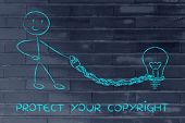 picture of lightbulb  - protect your intellectual property and copyright - JPG