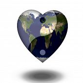 picture of universal sign  - Earth Heart Yin Yang - JPG