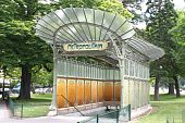 picture of dauphin  - Entrance to metro station Port Dauphine - JPG