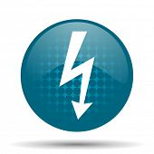 pic of bolts  - bolt blue glossy web icon - JPG