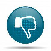 picture of dislike  - dislike blue glossy web icon  - JPG