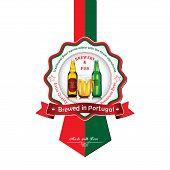 picture of beer mug  - Brewed in Portugal  - JPG