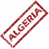 picture of algeria  - New Algeria grunge rubber stamp on a white background - JPG