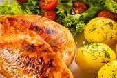 image of fried chicken  - Fried chicken fillet - JPG