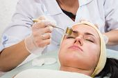 pic of medical injection  - Cosmetic injection in the spa salon - JPG