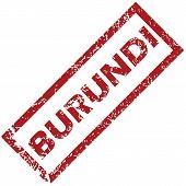 stock photo of burundi  - New Burundi grunge rubber stamp on a white background - JPG