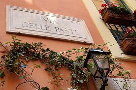 stock photo of light-pole  - Via Delle Paste  - JPG