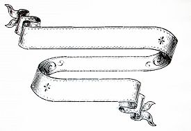 picture of scroll  - Hand drawn scroll blank and empty blank - JPG