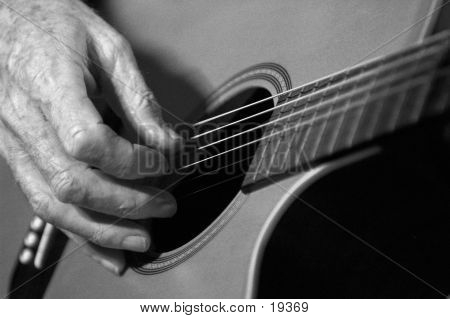 Acoustic Guitarist poster