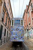 Постер, плакат: The Gloria Funicular ascensor Da Gloria In Lisbon Portugal