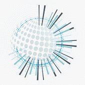Abstract Circular Geometric Background. Circular Geometric Centric Motion Design poster