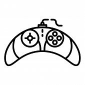 Video Game Controller Icon. Outline Video Game Controller Vector Icon For Web Design Isolated On Whi poster