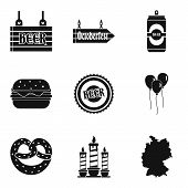 Man Evening Icons Set. Simple Set Of 9 Man Evening Icons For Web Isolated On White Background poster