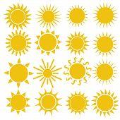 Flat Sun Icon. Sun Pictogram. Trendy Vector Summer Symbol For Website Design, Web Button, Mobile App poster