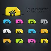 bright brilliant website icons in the pockets