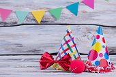 Carnival Or Birthday Party Background. Decorative Items For Festival, Carnival Or Birthday Party Cel poster