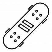 Recreation Skateboard Icon. Outline Recreation Skateboard Vector Icon For Web Design Isolated On Whi poster