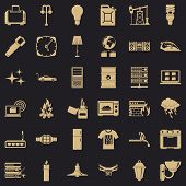 Electricity Signal Icons Set. Simple Style Of 36 Electricity Signal Vector Icons For Web For Any Des poster
