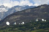 stock photo of wiretap  - satellite land earth station - JPG