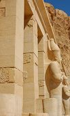 stock photo of hatshepsut  - Hatshepsut  Statue In Hatshepsut Temple At Deir - JPG