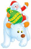 Santa Claus Travels On The Polar Bear poster
