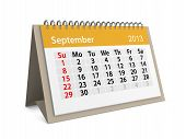 Monthly Calendar For New Year 2013. September