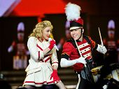 CLEVELAND - NOVEMBER 10: Madonna (born Madonna Louise Ciccone) performs at the Quicken Loans Arena i