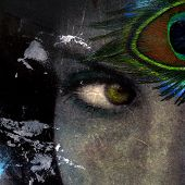 stock photo of intuition  - Exotic eye of goddess woman - JPG