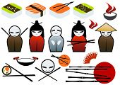 foto of chinese wok  - asian restaurant symbol collection - JPG