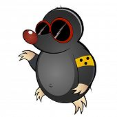 funny cartoon mole