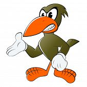 foto of pecker  - funny cartoon bird - JPG