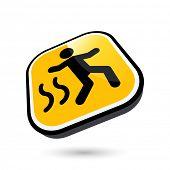 foto of slip hazard  - modern slip danger sign - JPG