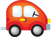 picture of beetle car  - a beautiful colorful vector illustrated toy car - JPG