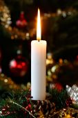image of christmas eve  - Christmas candle lighting before the christmas tree at Christmas Eve - JPG