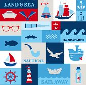 picture of brig  - Nautical Sea Design Elements  - JPG