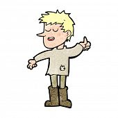 stock photo of attitude boy  - cartoon poor boy with positive attitude - JPG