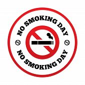 stock photo of tobacco smoke  - No smoking day sign - JPG