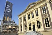 pic of holland flag  - Mauritshuis Museum in The Hague Holland with large Vermeer collection - JPG