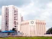 picture of synagogue  - New Synagogue in quarter Neve Rabin in Or Yehuda Israel - JPG