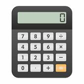 stock photo of calculator  - Calculator icon as a symbol of calculator - JPG